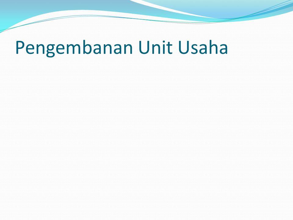Pengembanan Unit Usaha