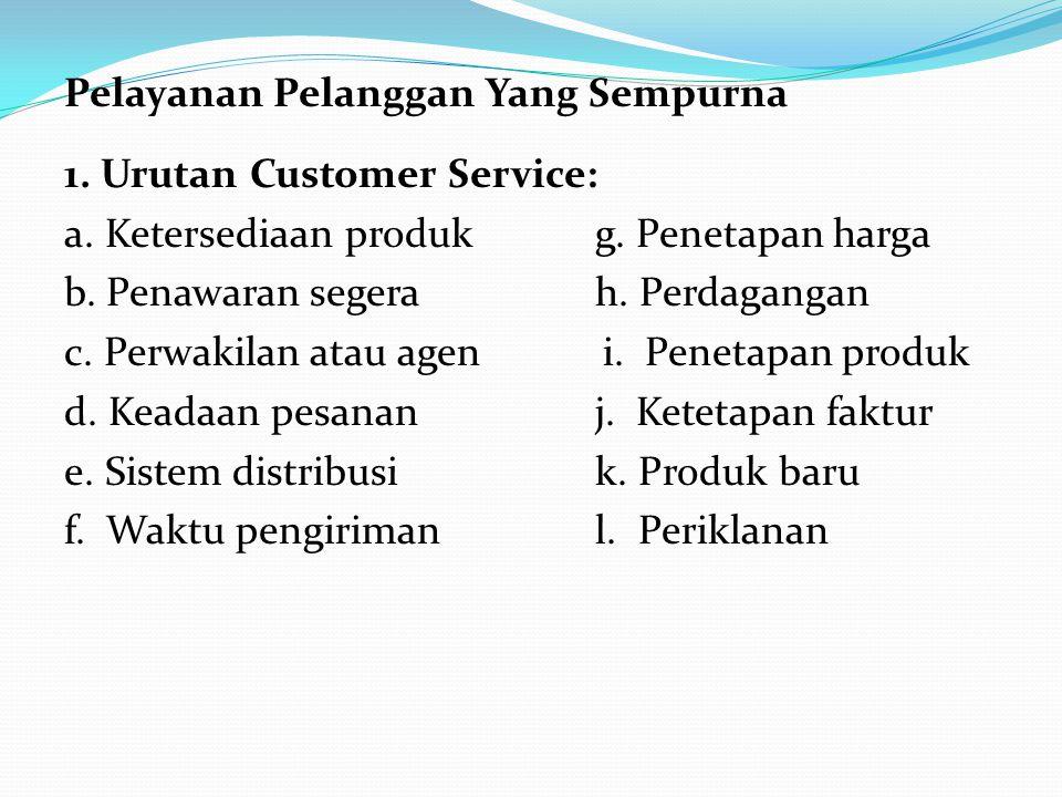 Pelayanan Pelanggan Yang Sempurna