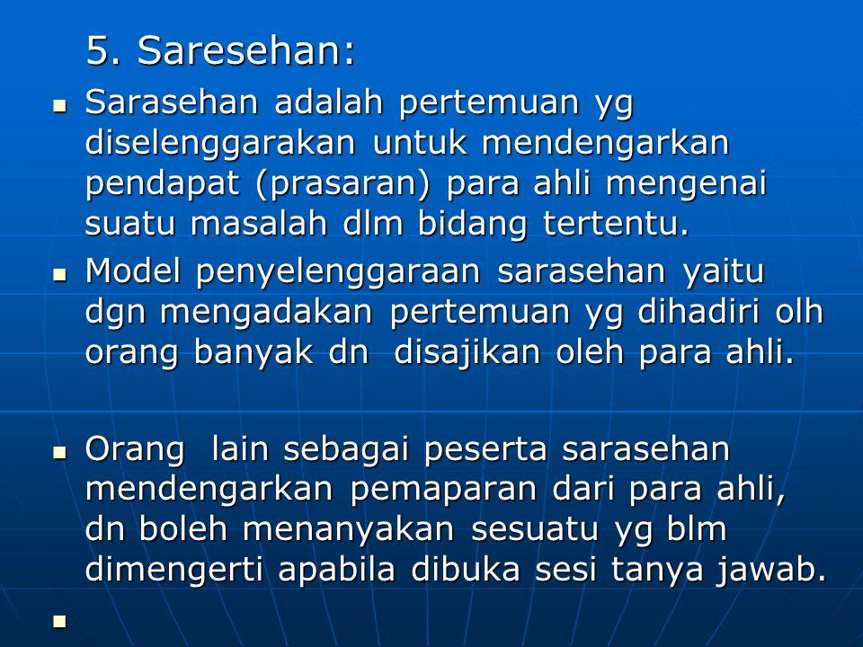 5. Saresehan: