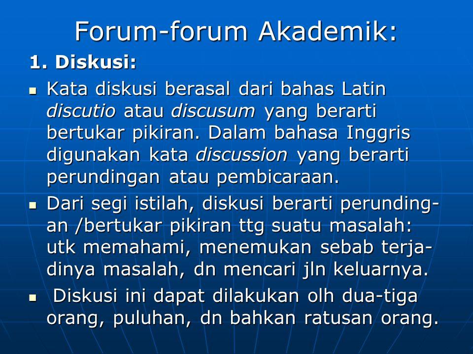Forum-forum Akademik: