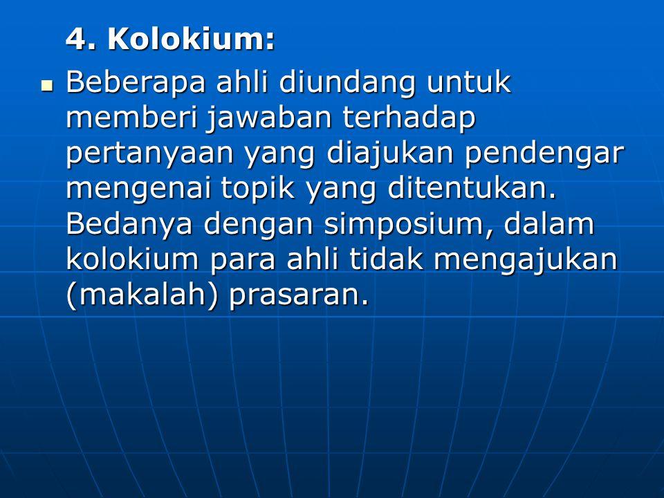 4. Kolokium:
