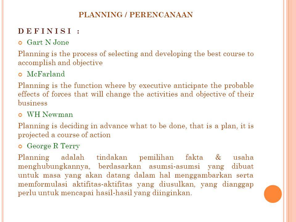 PLANNING / PERENCANAAN