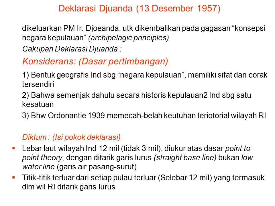 Deklarasi Djuanda (13 Desember 1957)