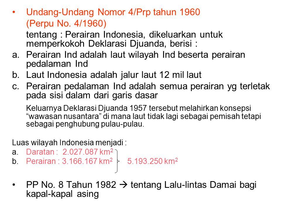 Undang-Undang Nomor 4/Prp tahun 1960