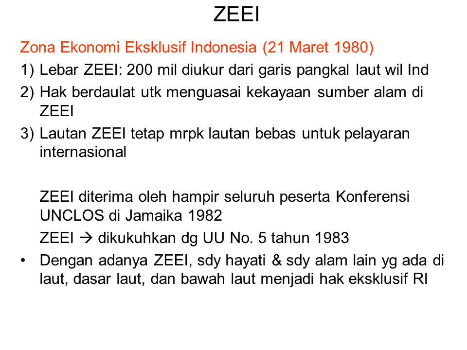 ZEEI Zona Ekonomi Eksklusif Indonesia (21 Maret 1980)