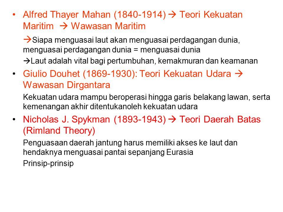 Giulio Douhet (1869-1930): Teori Kekuatan Udara  Wawasan Dirgantara