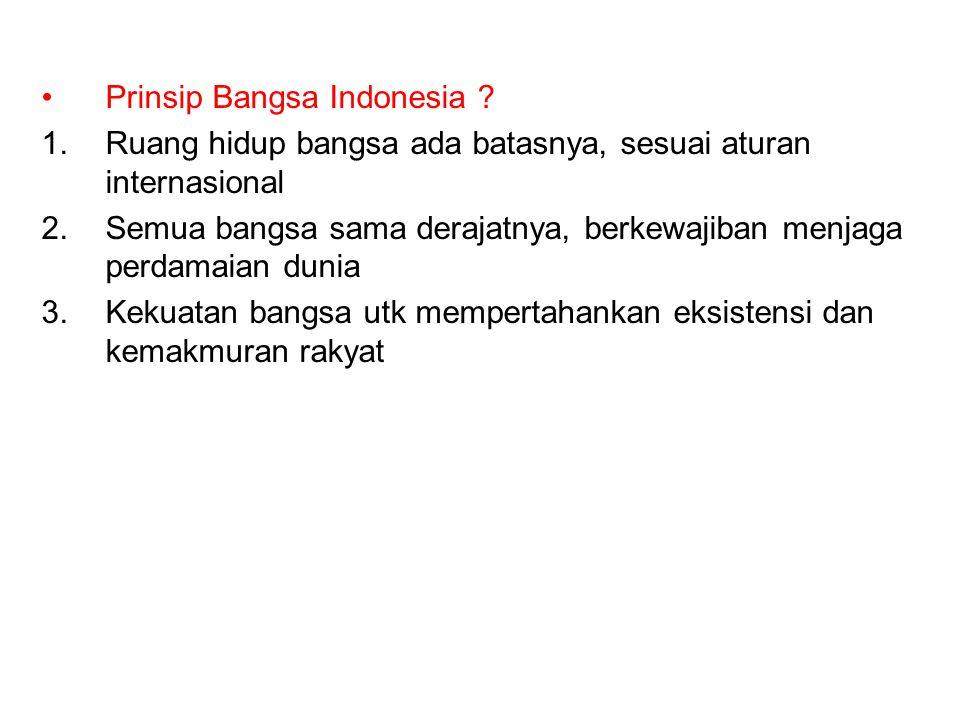 Prinsip Bangsa Indonesia