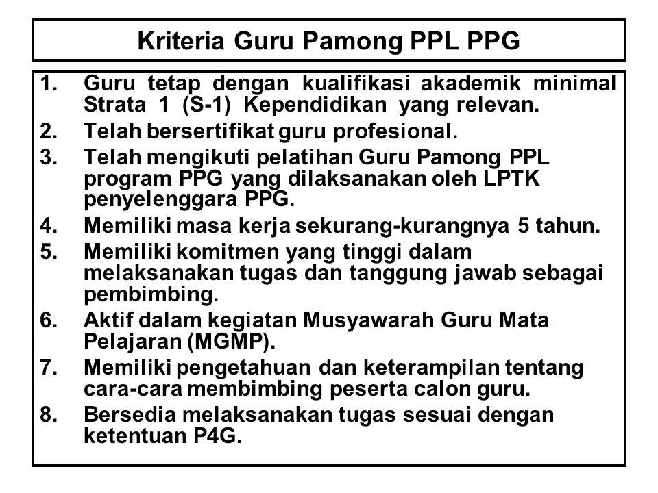 Kriteria Guru Pamong PPL PPG