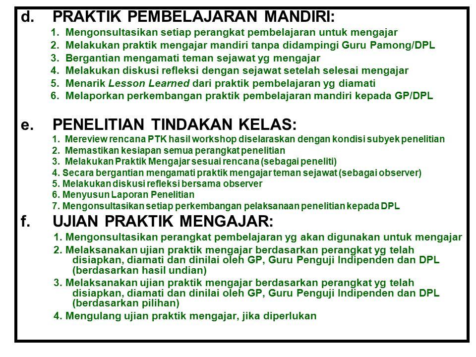 PRAKTIK PEMBELAJARAN MANDIRI: