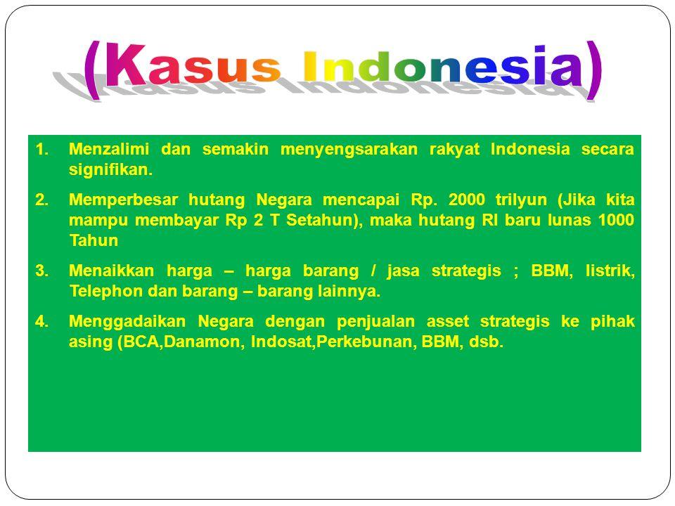 Dampak Riba / Bunga (Kasus Indonesia)