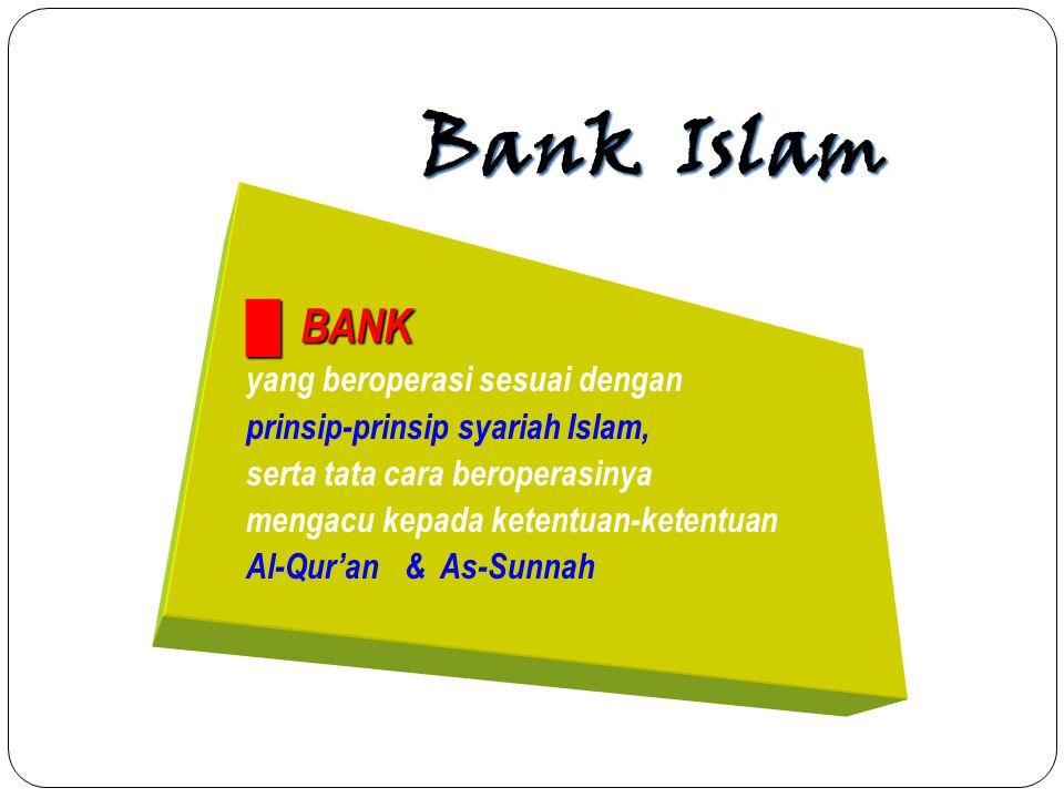 Bank Islam █ BANK yang beroperasi sesuai dengan