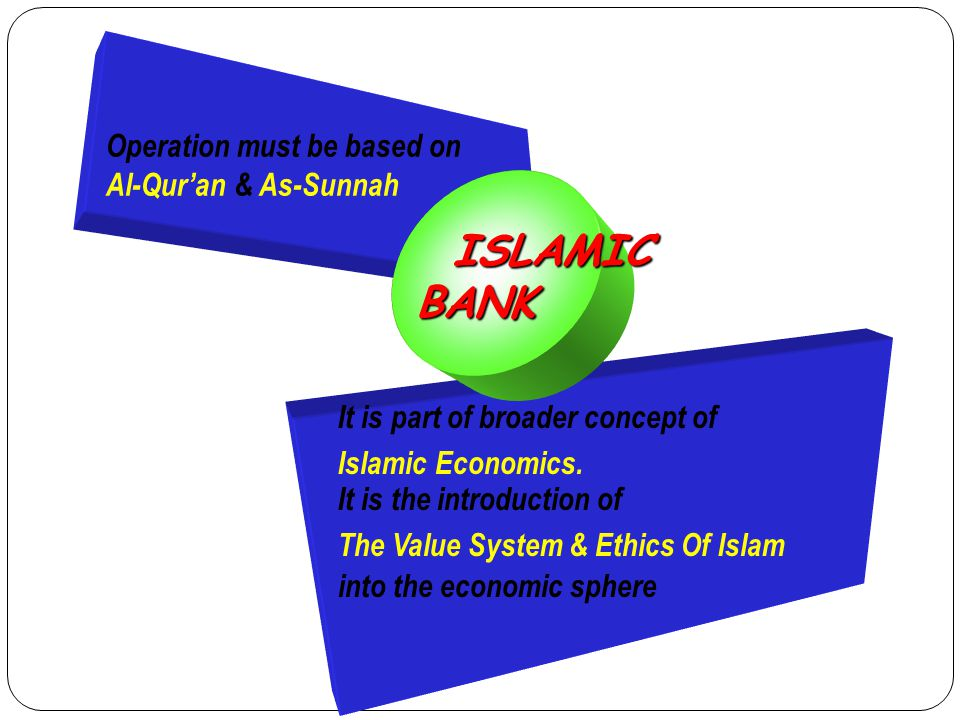 ISLAMIC BANK Operation must be based on Al-Qur'an & As-Sunnah