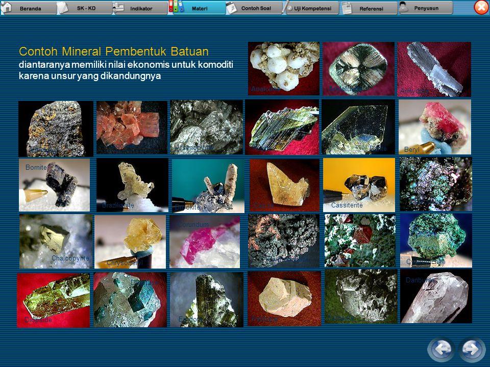Contoh Mineral Pembentuk Batuan