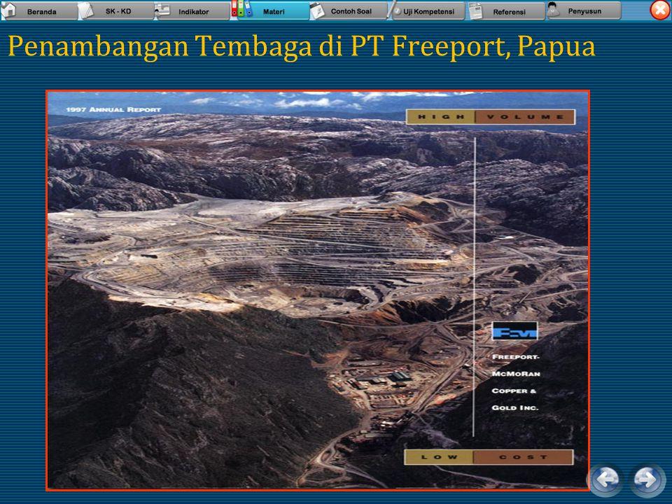 Penambangan Tembaga di PT Freeport, Papua