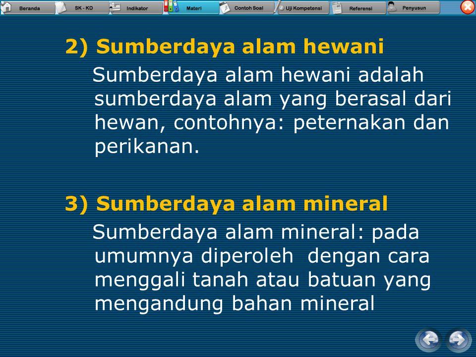 2) Sumberdaya alam hewani