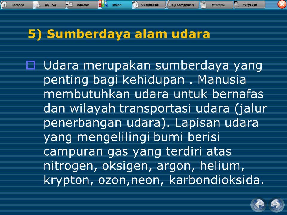 5) Sumberdaya alam udara