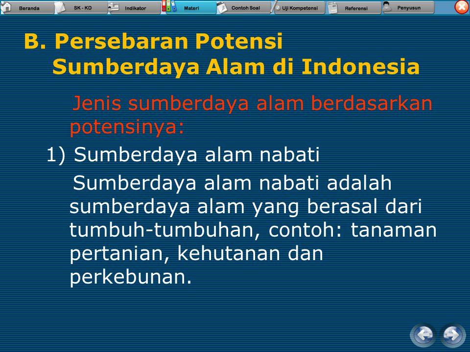 B. Persebaran Potensi Sumberdaya Alam di Indonesia