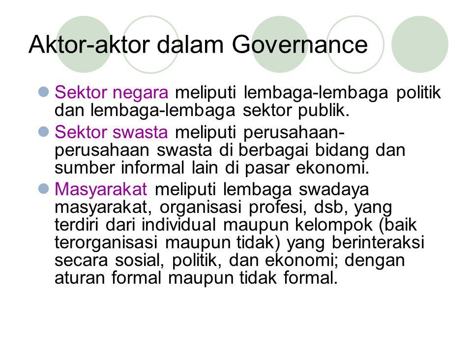 Aktor-aktor dalam Governance