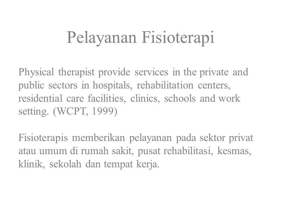 Pelayanan Fisioterapi