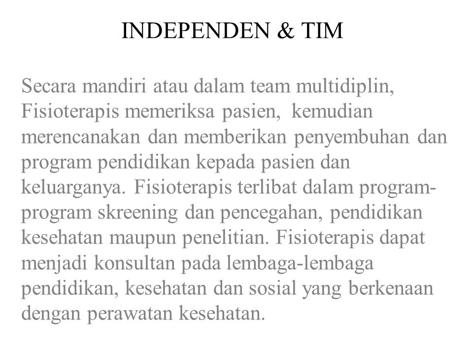 INDEPENDEN & TIM