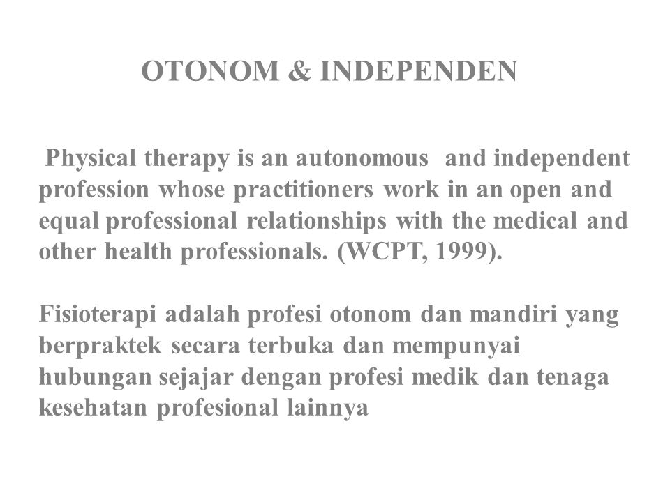 OTONOM & INDEPENDEN