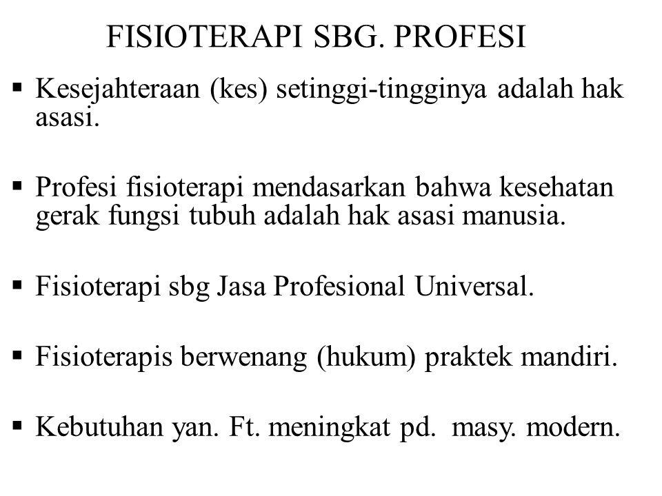 FISIOTERAPI SBG. PROFESI