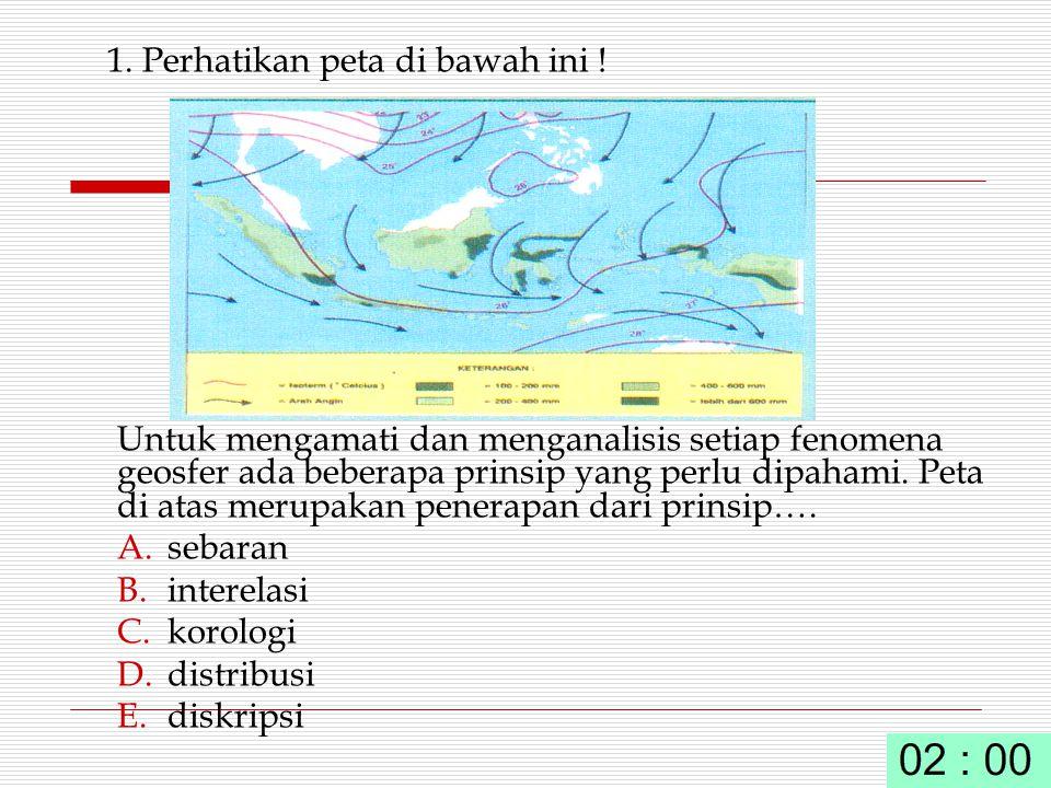 1. Perhatikan peta di bawah ini !