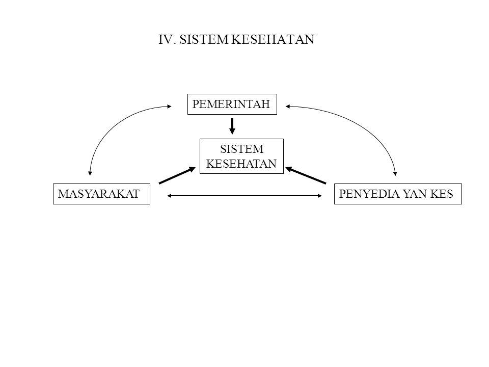 IV. SISTEM KESEHATAN PEMERINTAH SISTEM KESEHATAN MASYARAKAT