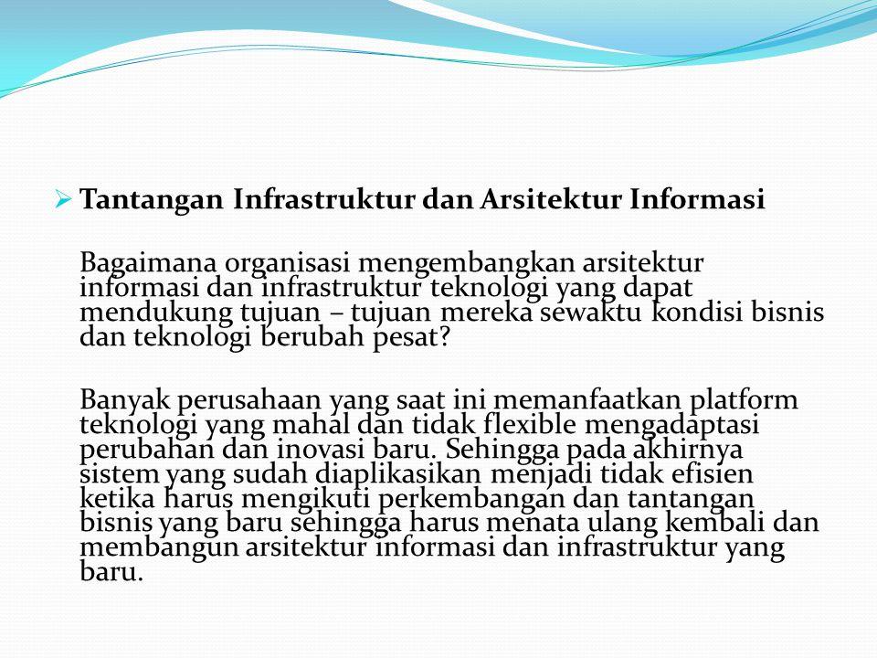 Tantangan Infrastruktur dan Arsitektur Informasi