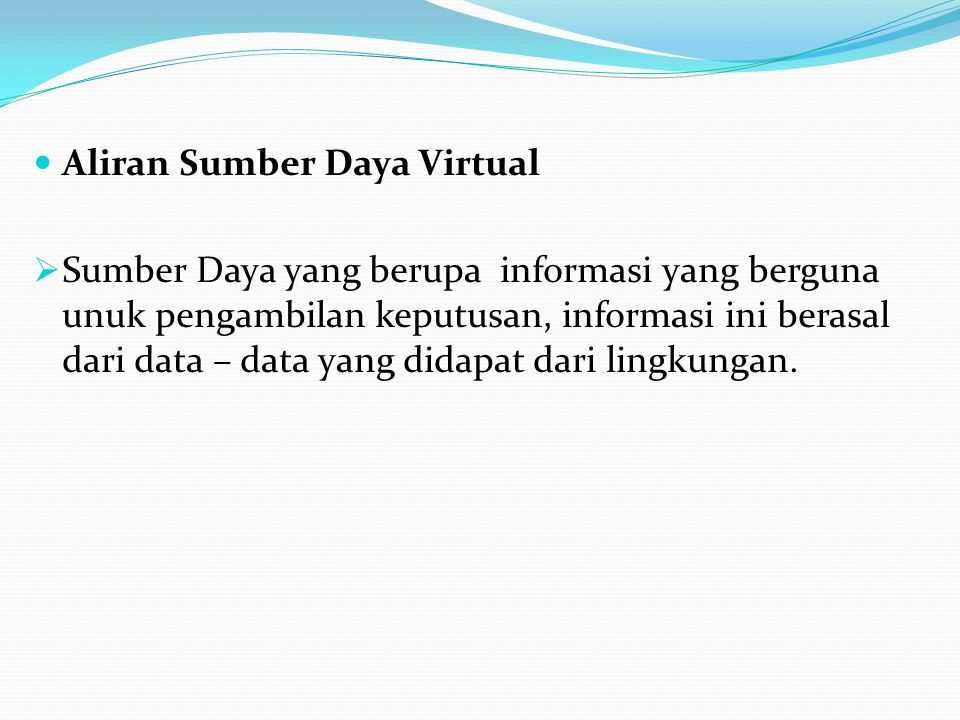 Aliran Sumber Daya Virtual