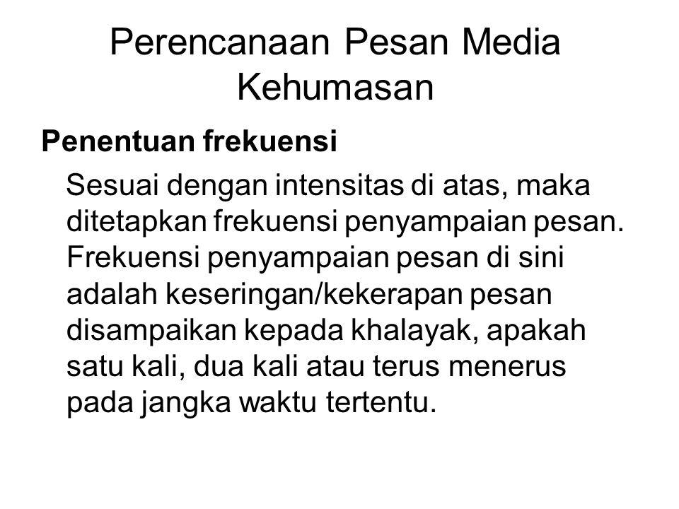 Perencanaan Pesan Media Kehumasan
