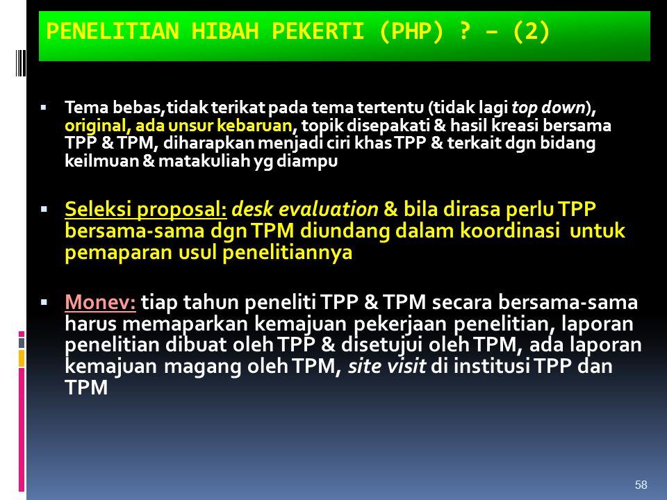 PENELITIAN HIBAH PEKERTI (PHP) – (2)