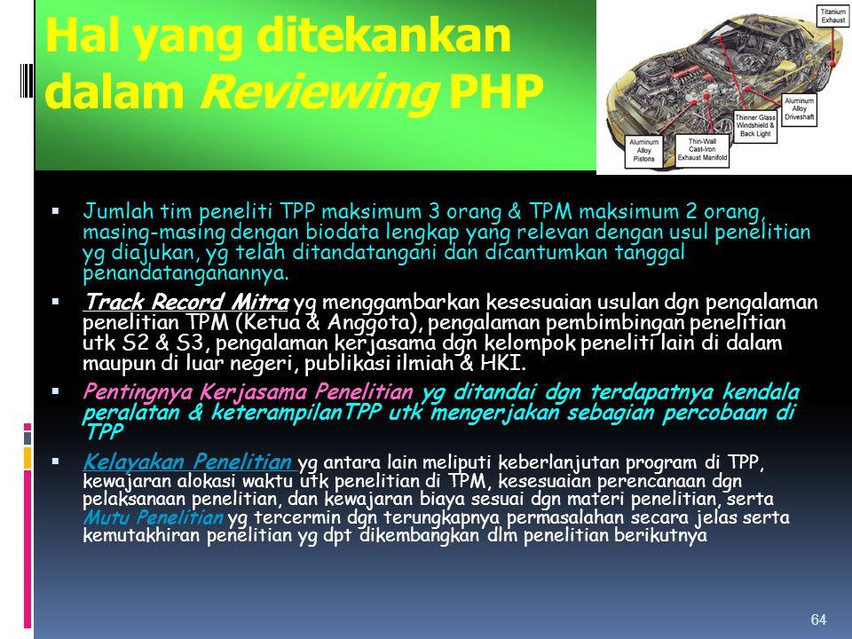 Hal yang ditekankan dalam Reviewing PHP