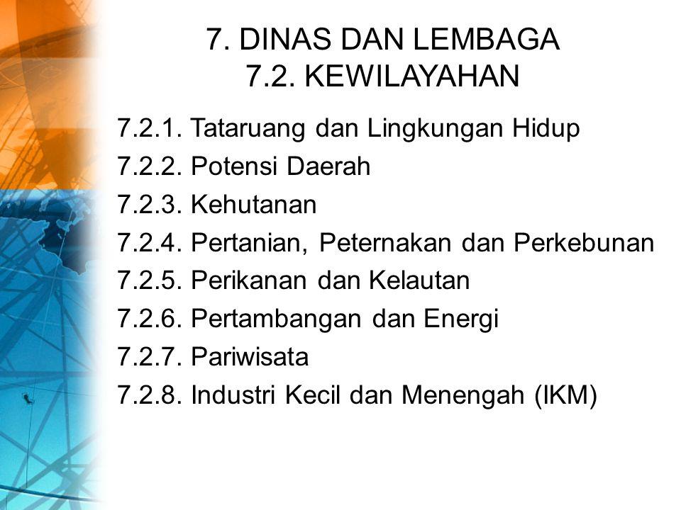 7. DINAS DAN LEMBAGA 7.2. KEWILAYAHAN