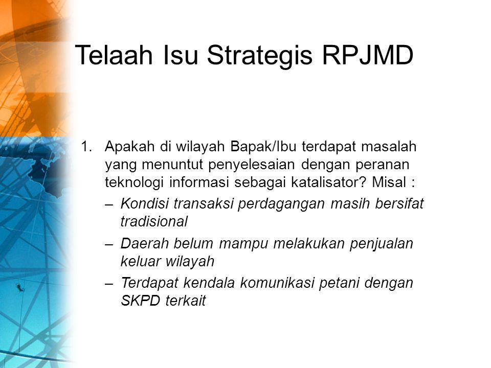 Telaah Isu Strategis RPJMD