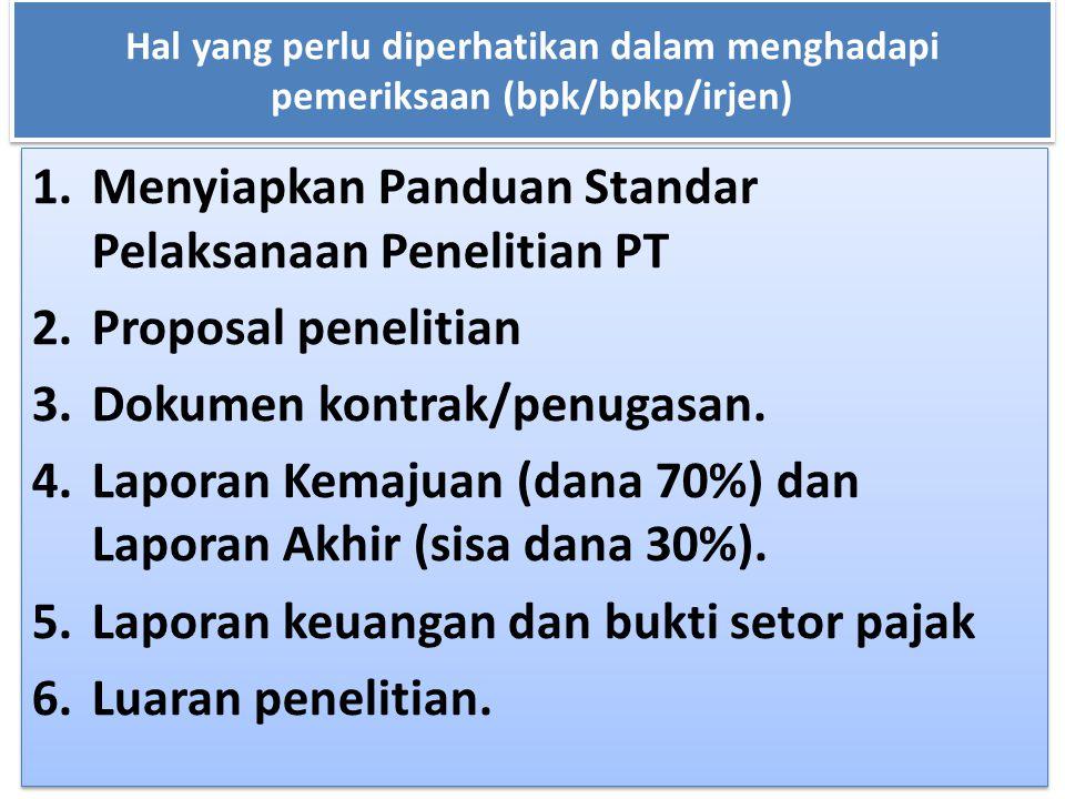 Menyiapkan Panduan Standar Pelaksanaan Penelitian PT