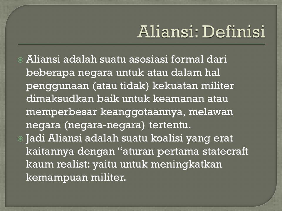 Aliansi: Definisi