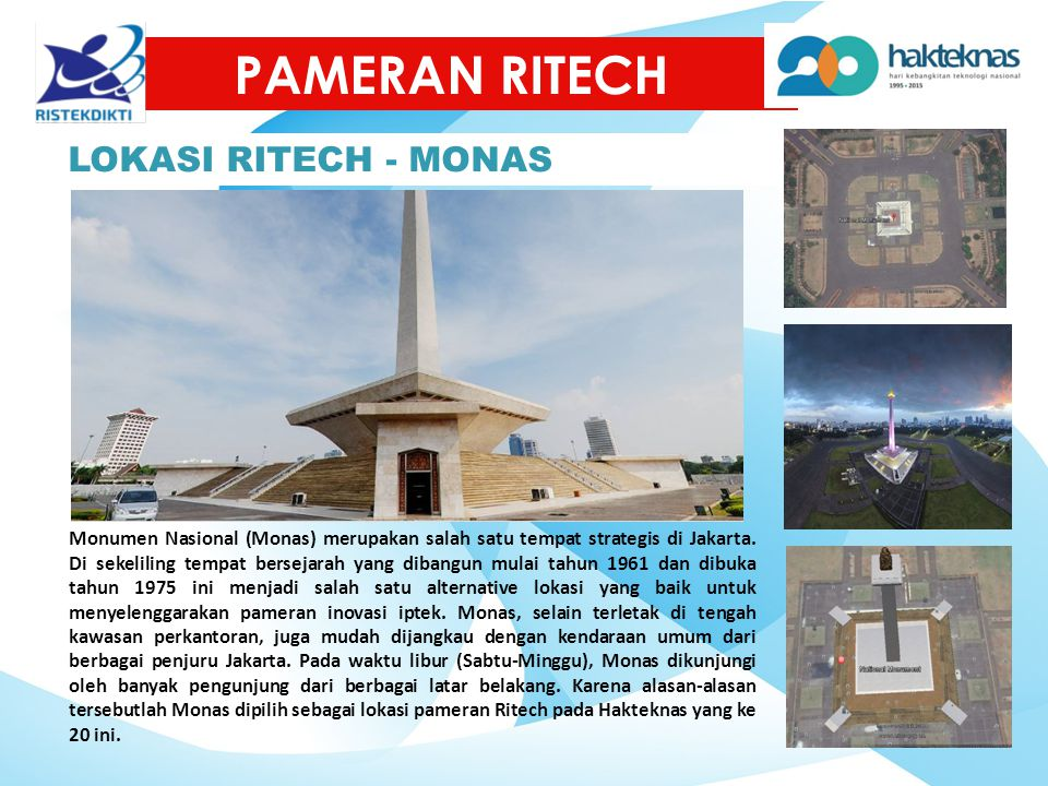 PAMERAN RITECH LOKASI RITECH - MONAS