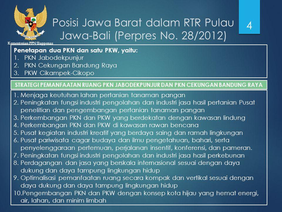 Posisi Jawa Barat dalam RTR Pulau Jawa-Bali (Perpres No. 28/2012)