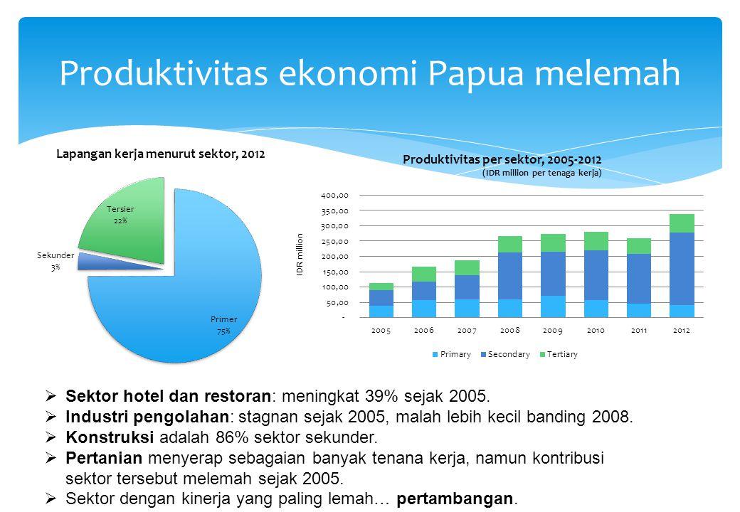 Produktivitas ekonomi Papua melemah