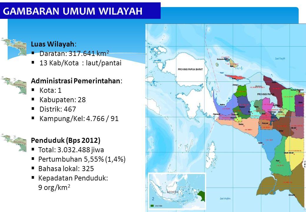 GAMBARAN UMUM WILAYAH Luas Wilayah: Daratan: 317.641 km2
