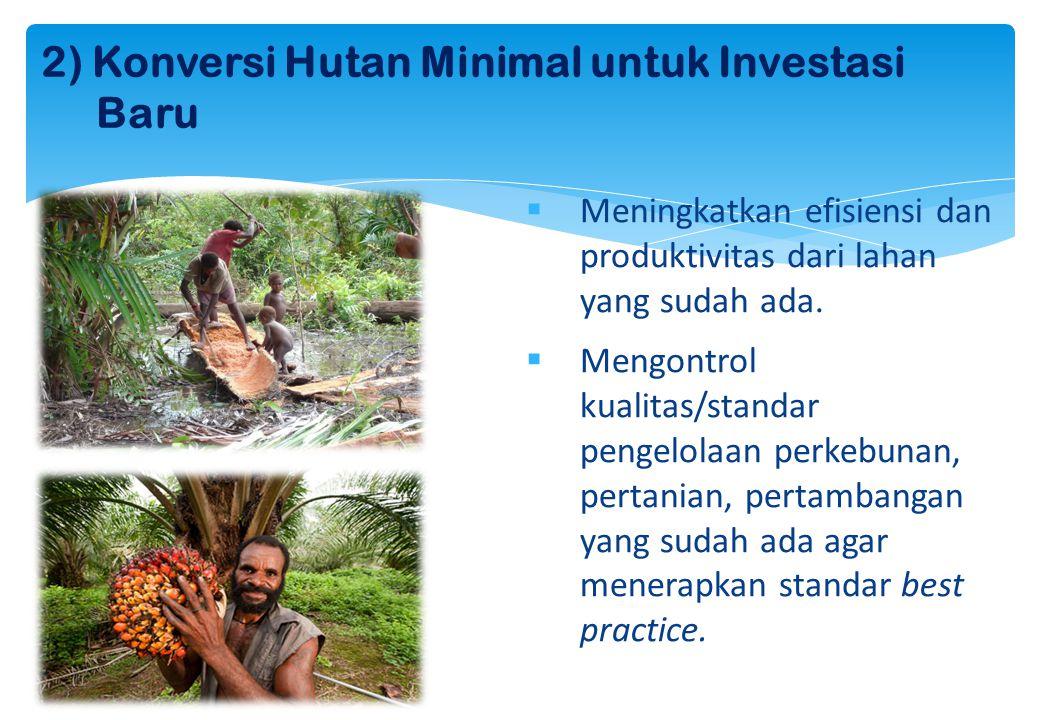2) Konversi Hutan Minimal untuk Investasi Baru