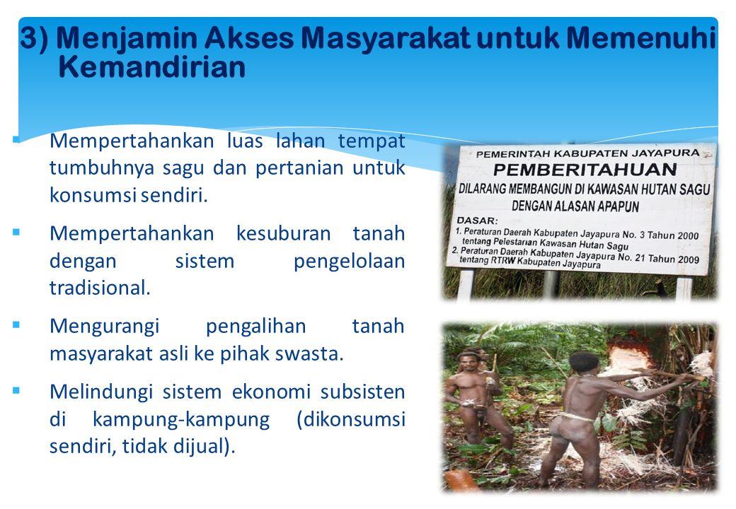 3) Menjamin Akses Masyarakat untuk Memenuhi Kemandirian