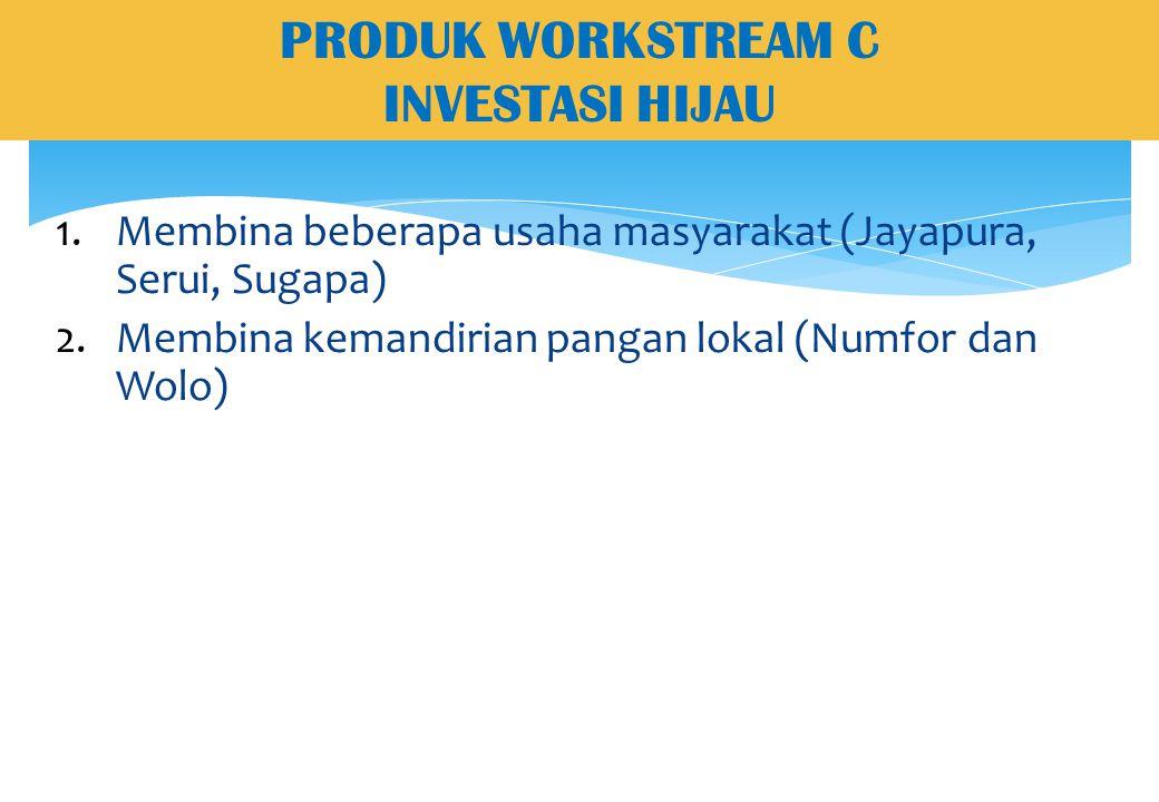 PRODUK WORKSTREAM C INVESTASI HIJAU