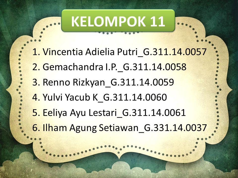 Kelompok 11 1. Vincentia Adielia Putri_G.311.14.0057