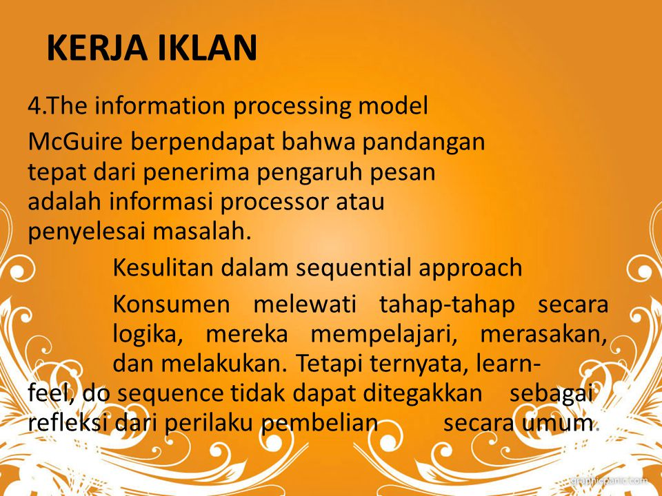 KERJA IKLAN 4.The information processing model