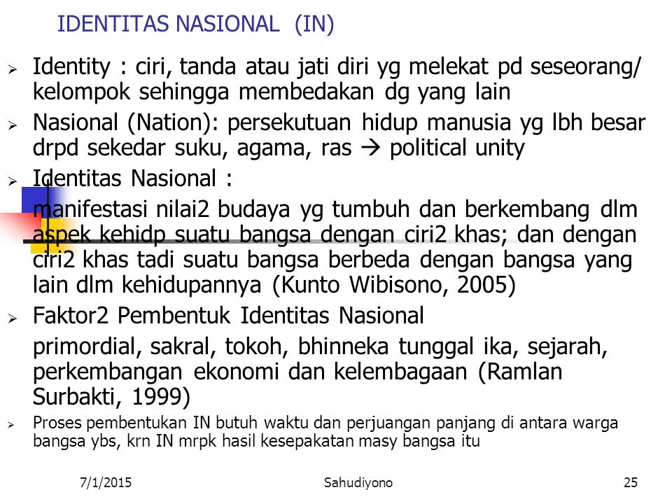 IDENTITAS NASIONAL (IN)