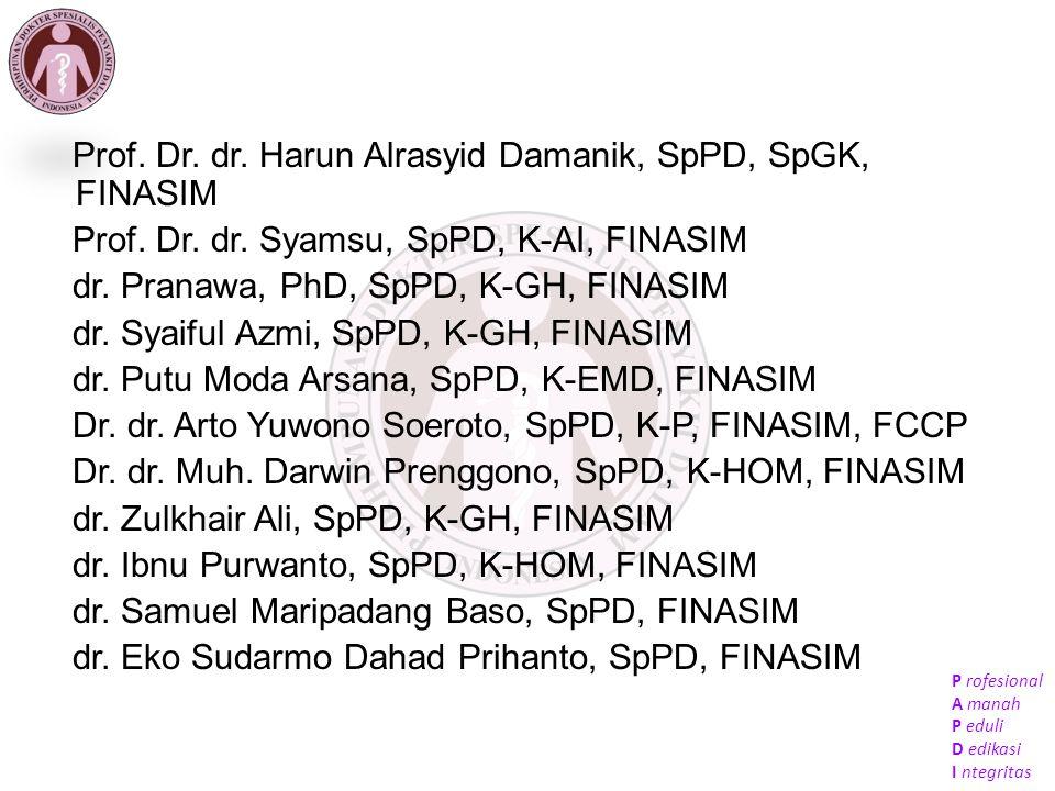 Prof. Dr. dr. Harun Alrasyid Damanik, SpPD, SpGK, FINASIM