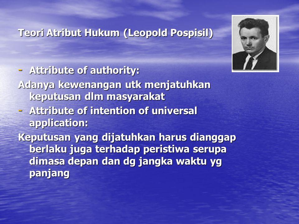 Teori Atribut Hukum (Leopold Pospisil)