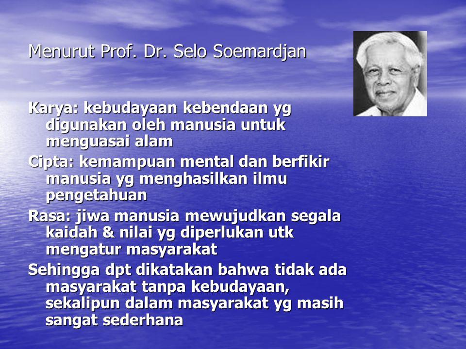 Menurut Prof. Dr. Selo Soemardjan